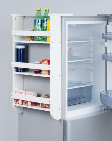 简易实用白色冰箱挂架厨房收纳架
