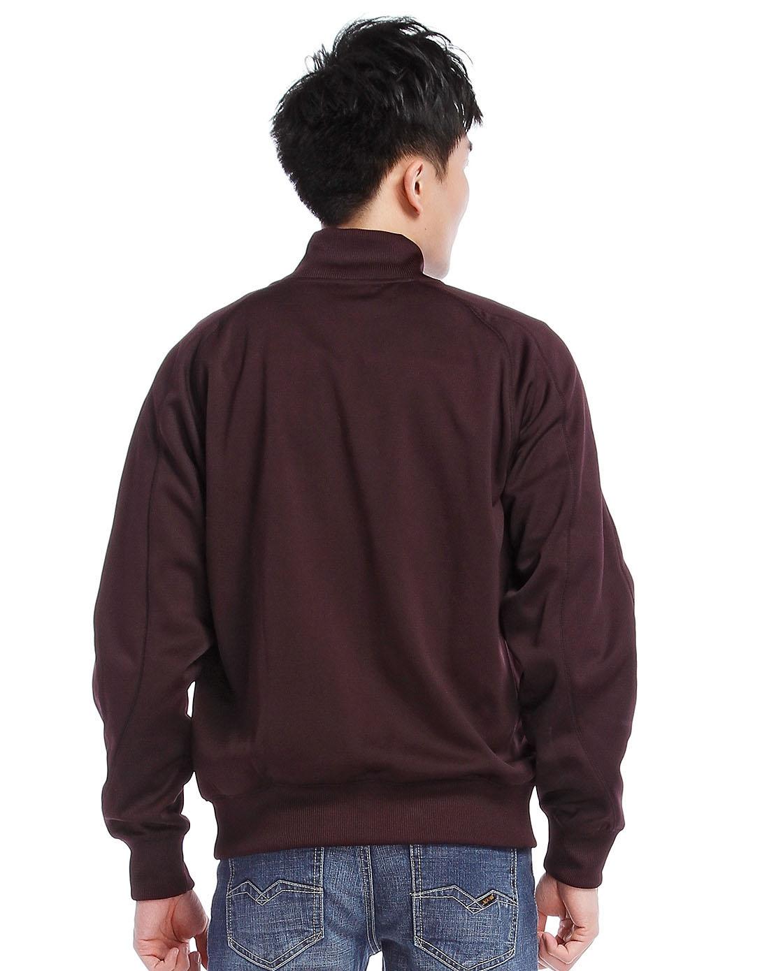 耐克 深红色针织长袖外套