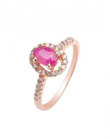 红宝石小巧戒指