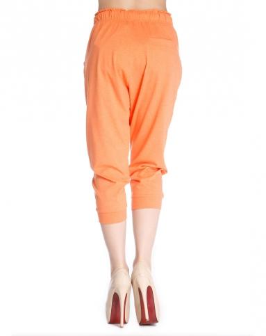 森马女款运动休闲橘色针织七分裤10263213001-0066