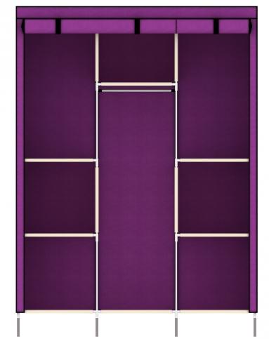 家世比homebi家具专场拉链卷帘式布衣柜紫色hby11405