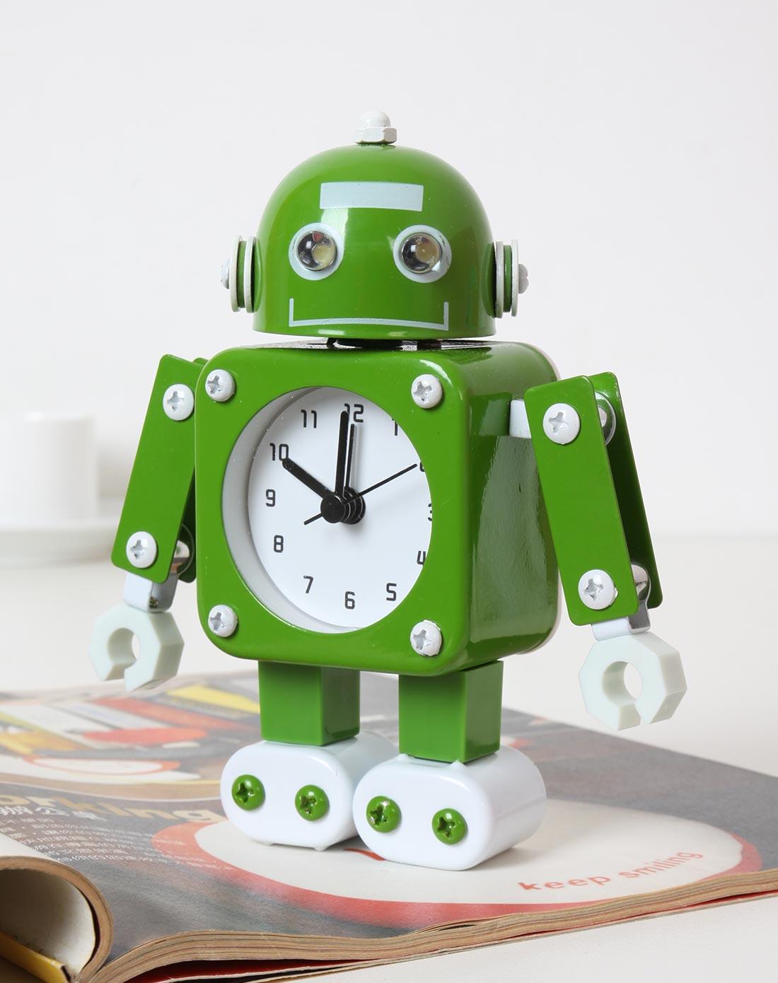 手工机器人囹�a�i)�aj_手工机器人闹钟-绿色