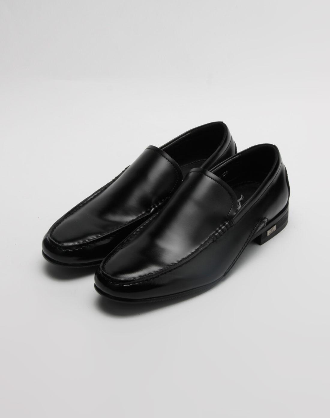 黑色简约正装皮鞋
