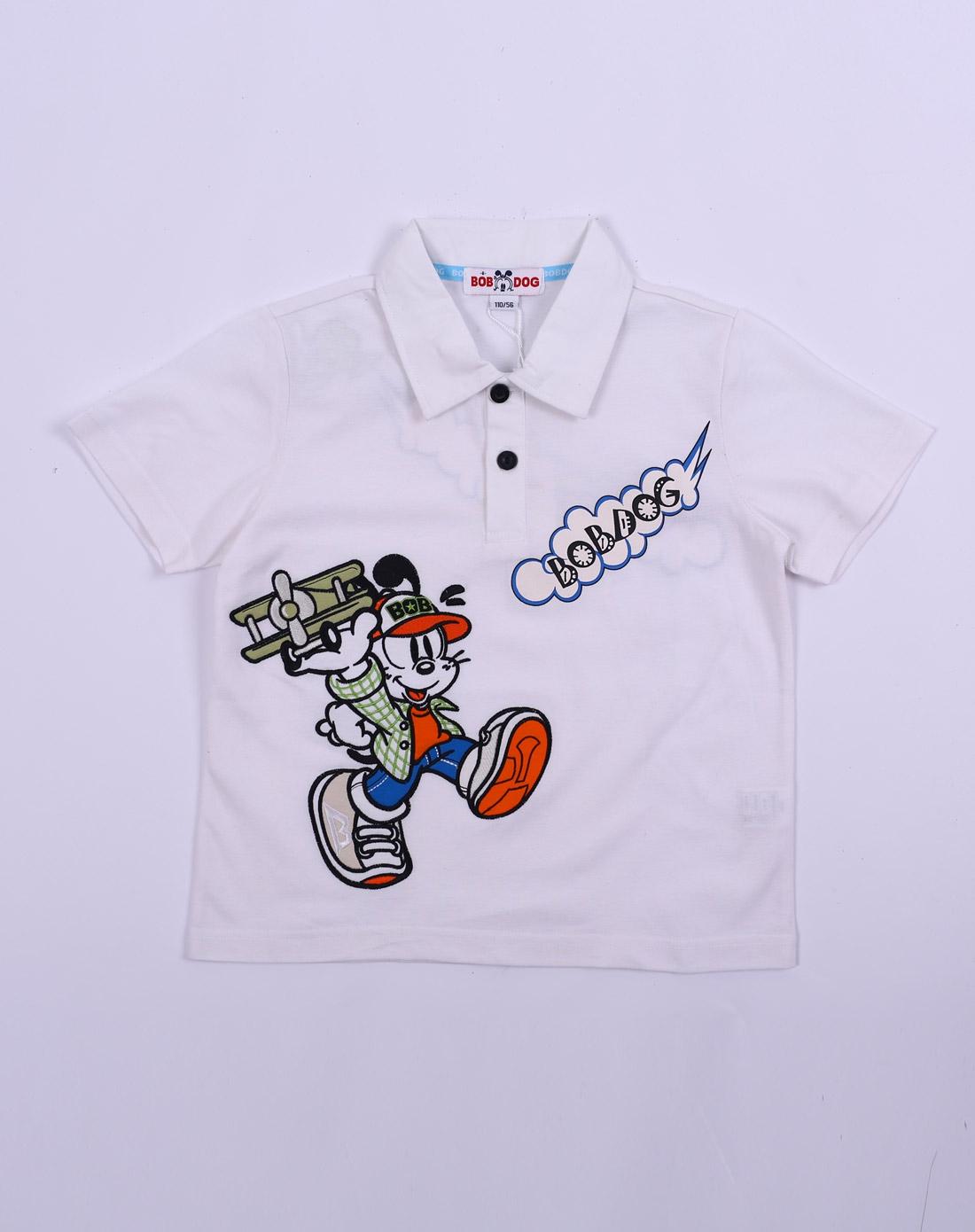 男童白短袖t恤
