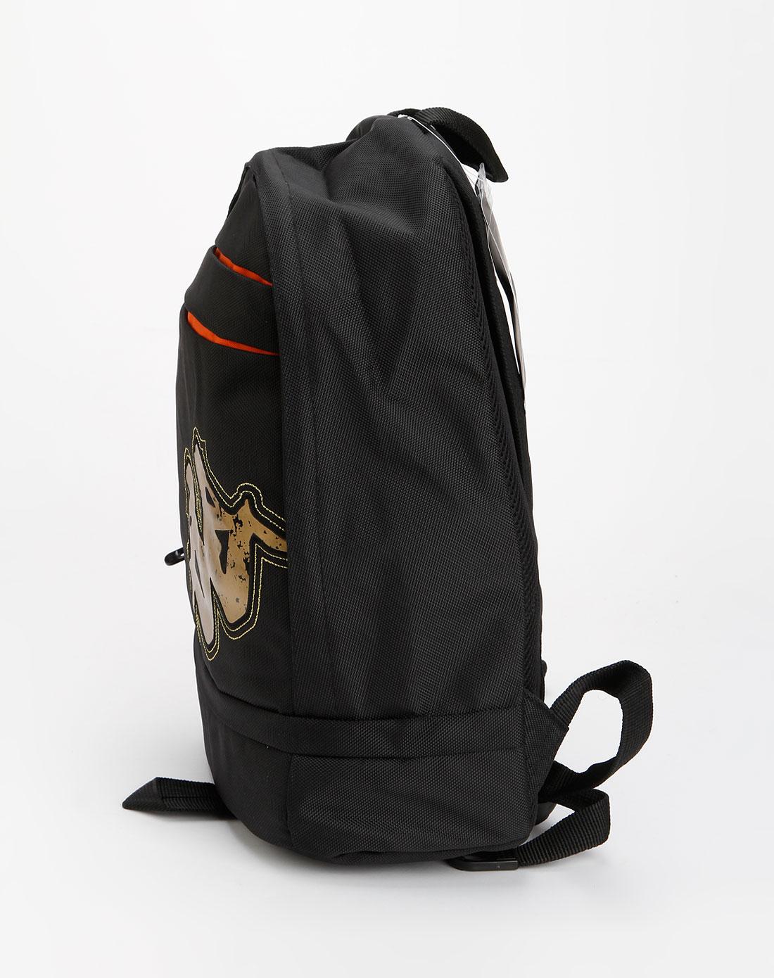 卡帕kappa黑色休闲双肩包k8102bs401-910
