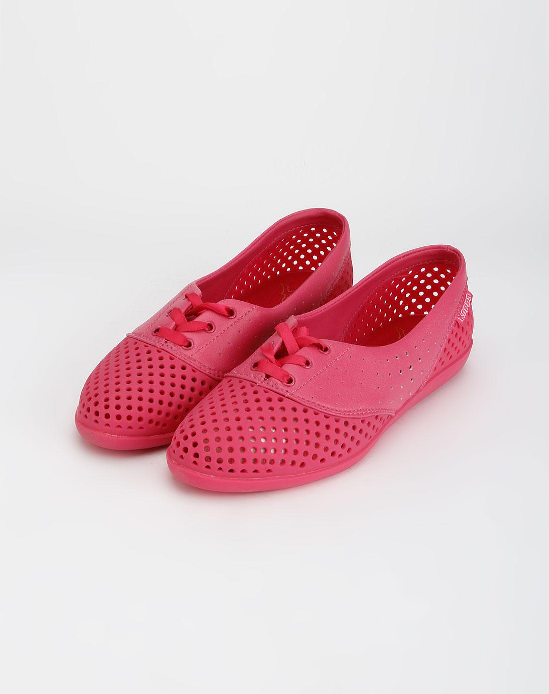 卡帕kappa玫红色时尚个性系带休闲鞋k5102bb230-503