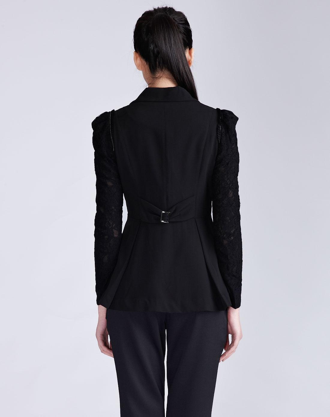 依维妮iveni女装黑色新款短外套1212092900图片