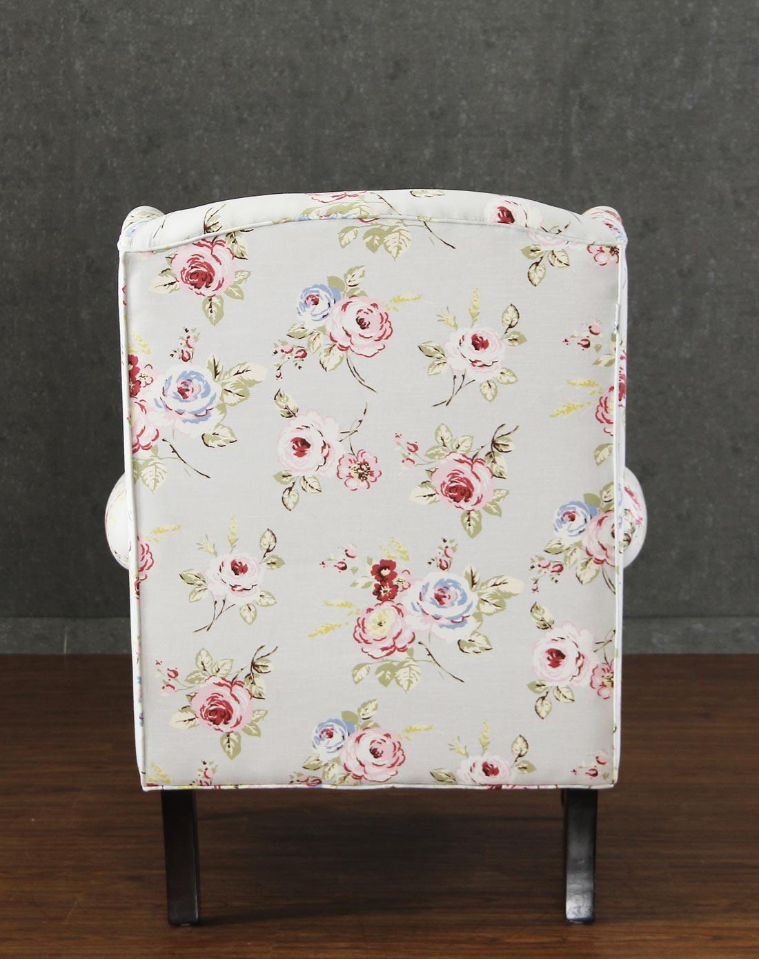 欧式花朵单人沙发椅