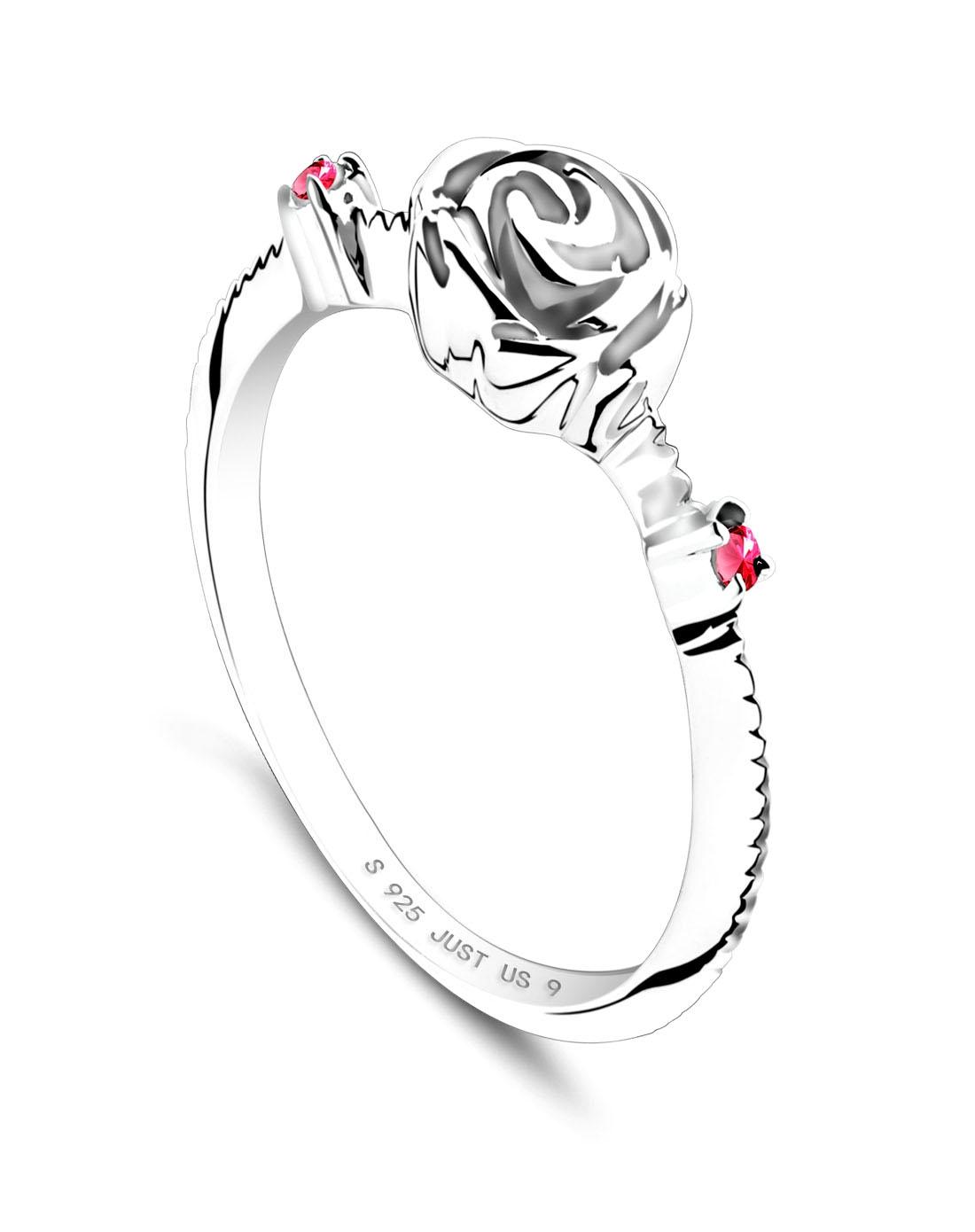 戒指925纯银玫瑰花女戒