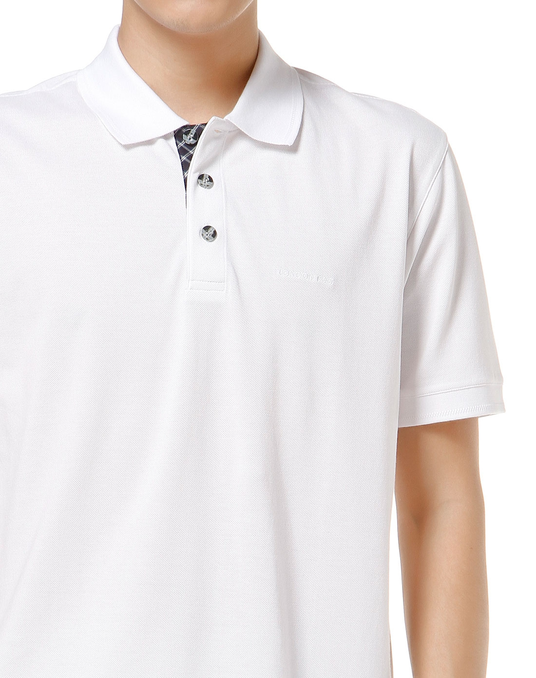 男款白色简约活力短袖polo衫