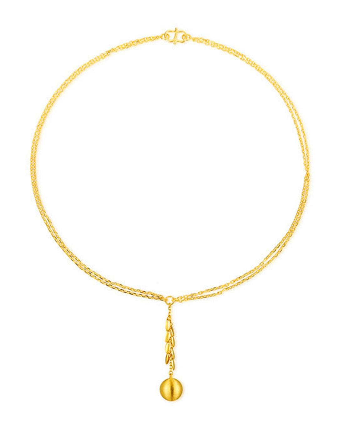 足金圆圆满满黄金项链套链(计价)12.240克