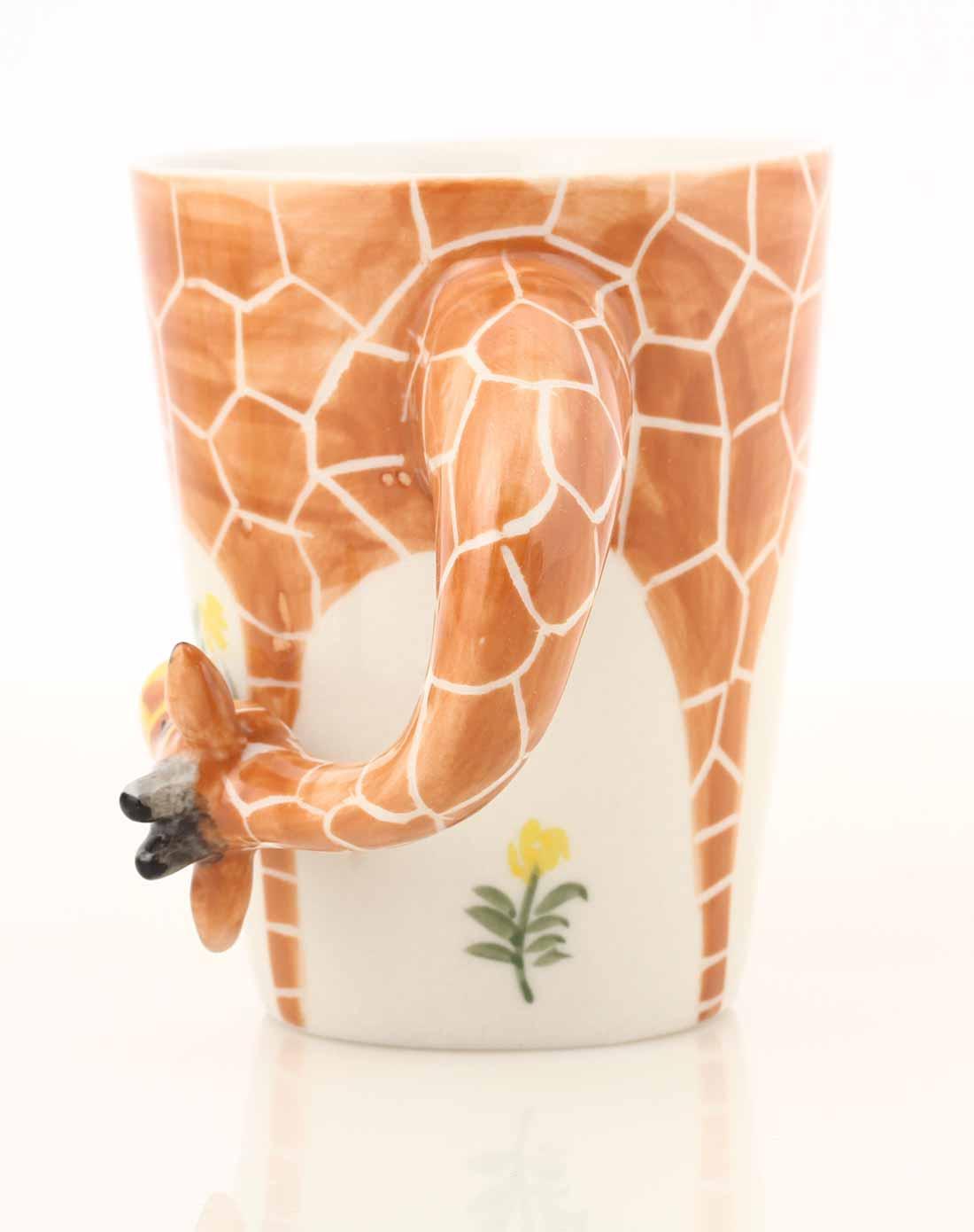 长颈鹿款纯手绘创意立体动物杯