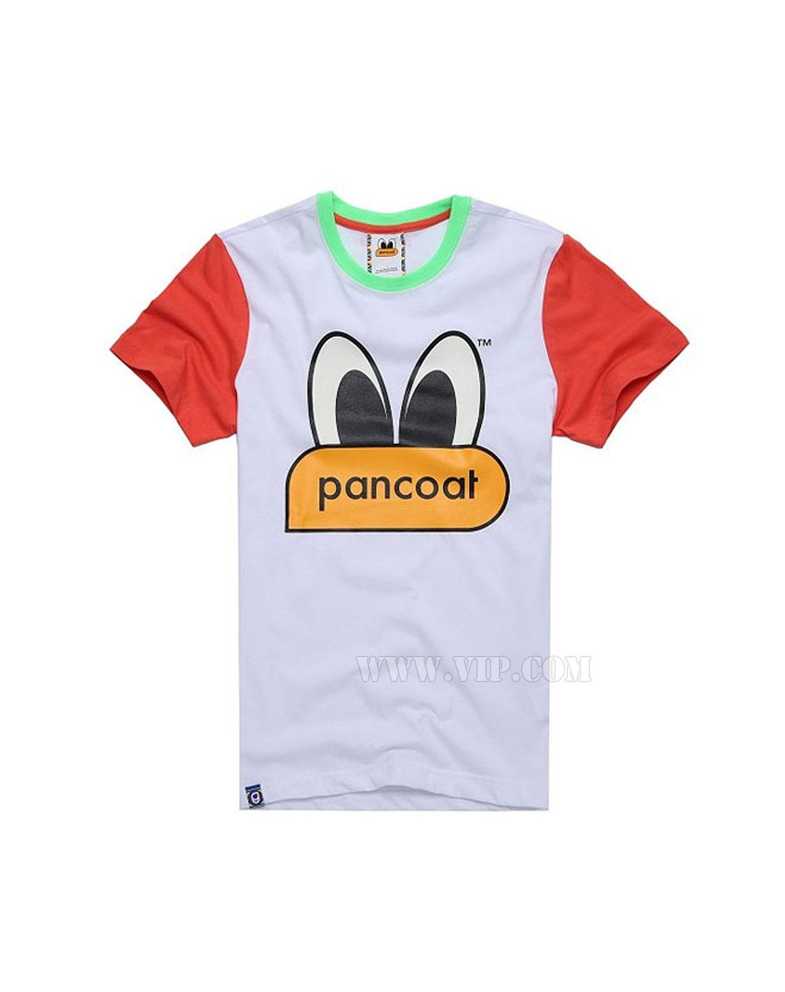 中性pancoat popeyesneon可爱卡通图案t恤白色