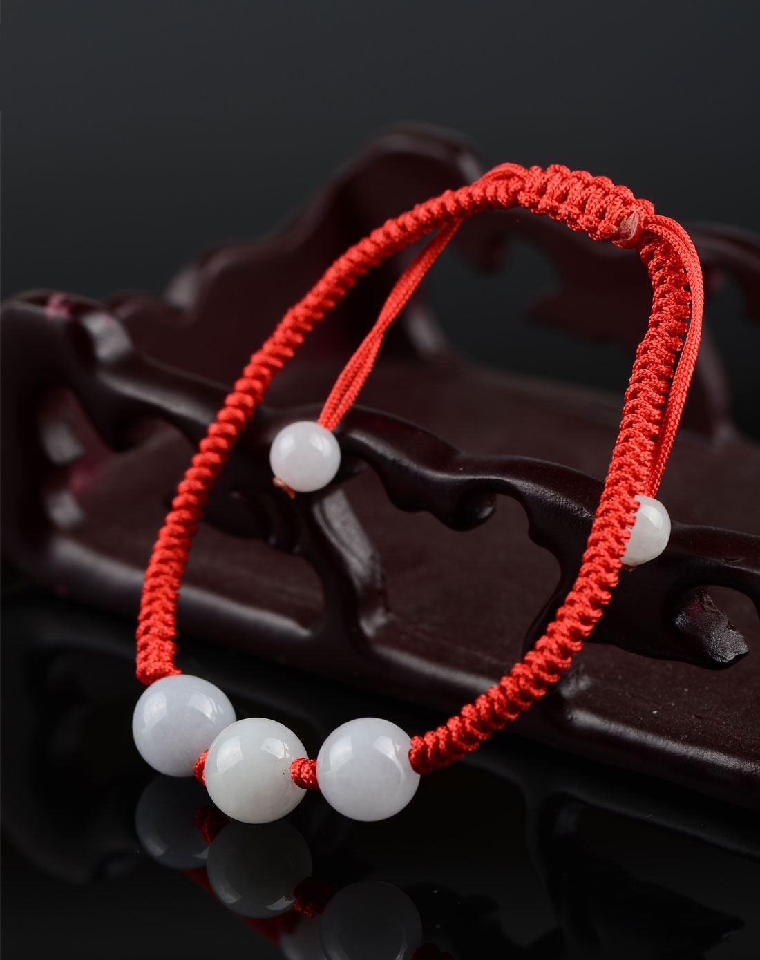 天然翡翠手工编织女士转运珠手链