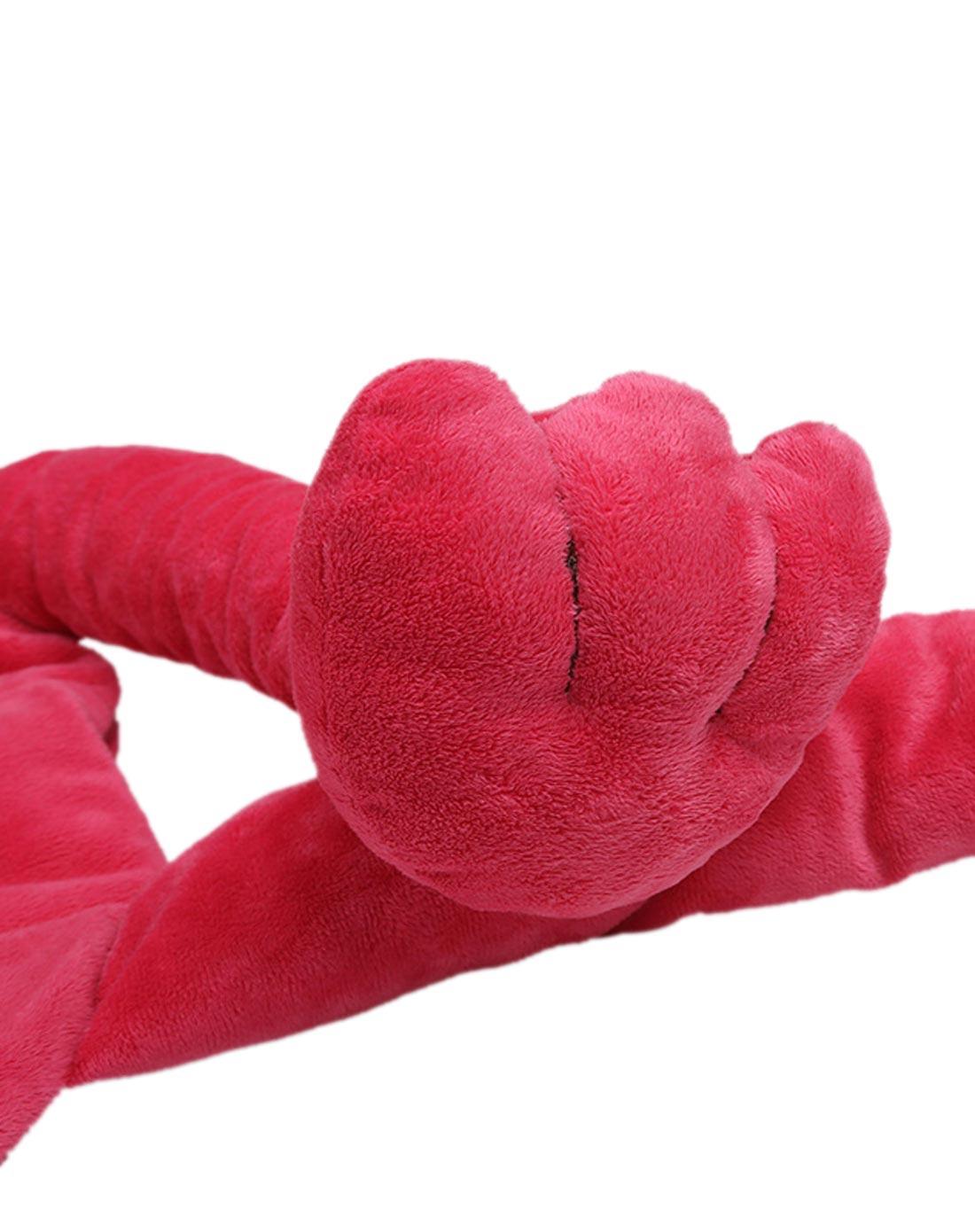 中性玫红色可爱小象宝宝绒恒温睡袋