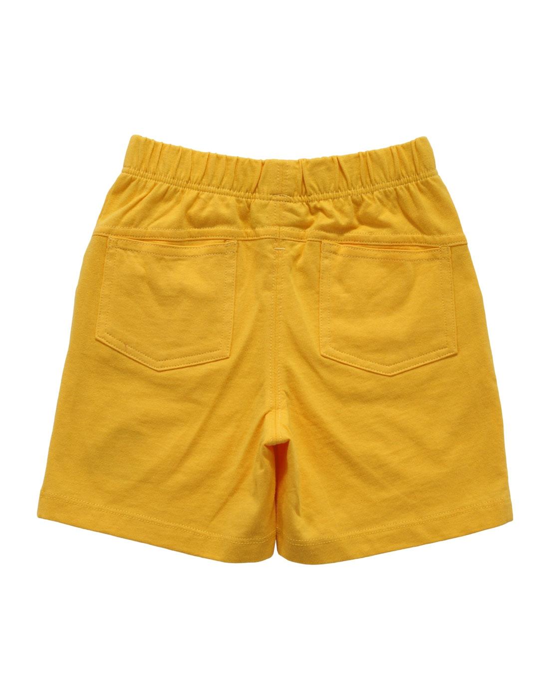 男童老黄色卡通短裤