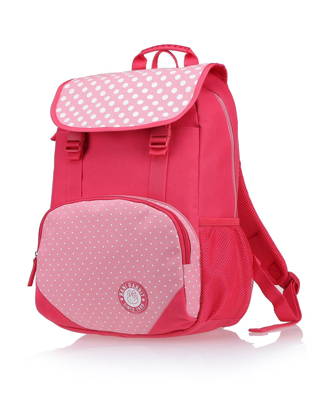 女款红色清新中学小学生可爱背包