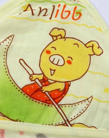 安吉小羊 婴儿黄色纱布小猪抱被
