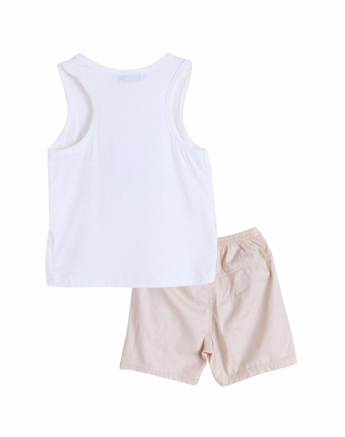小素材&小富兰克婴儿服饰用品小素材白色动感旋律单面