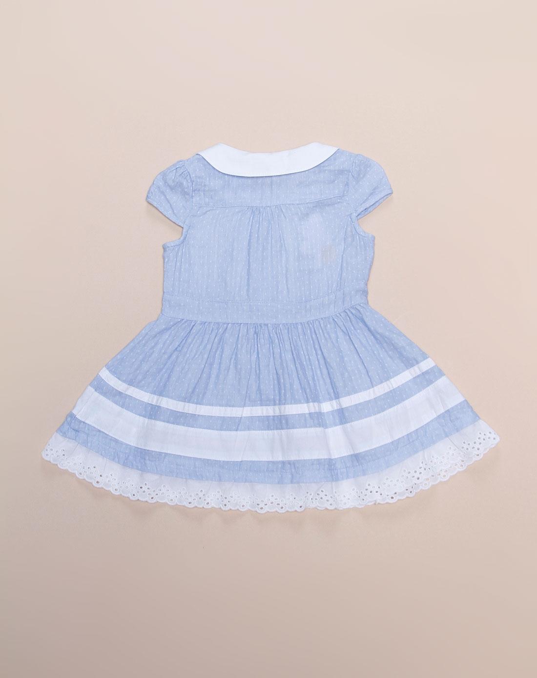 女幼童可爱公主粉蓝色短袖连衣裙