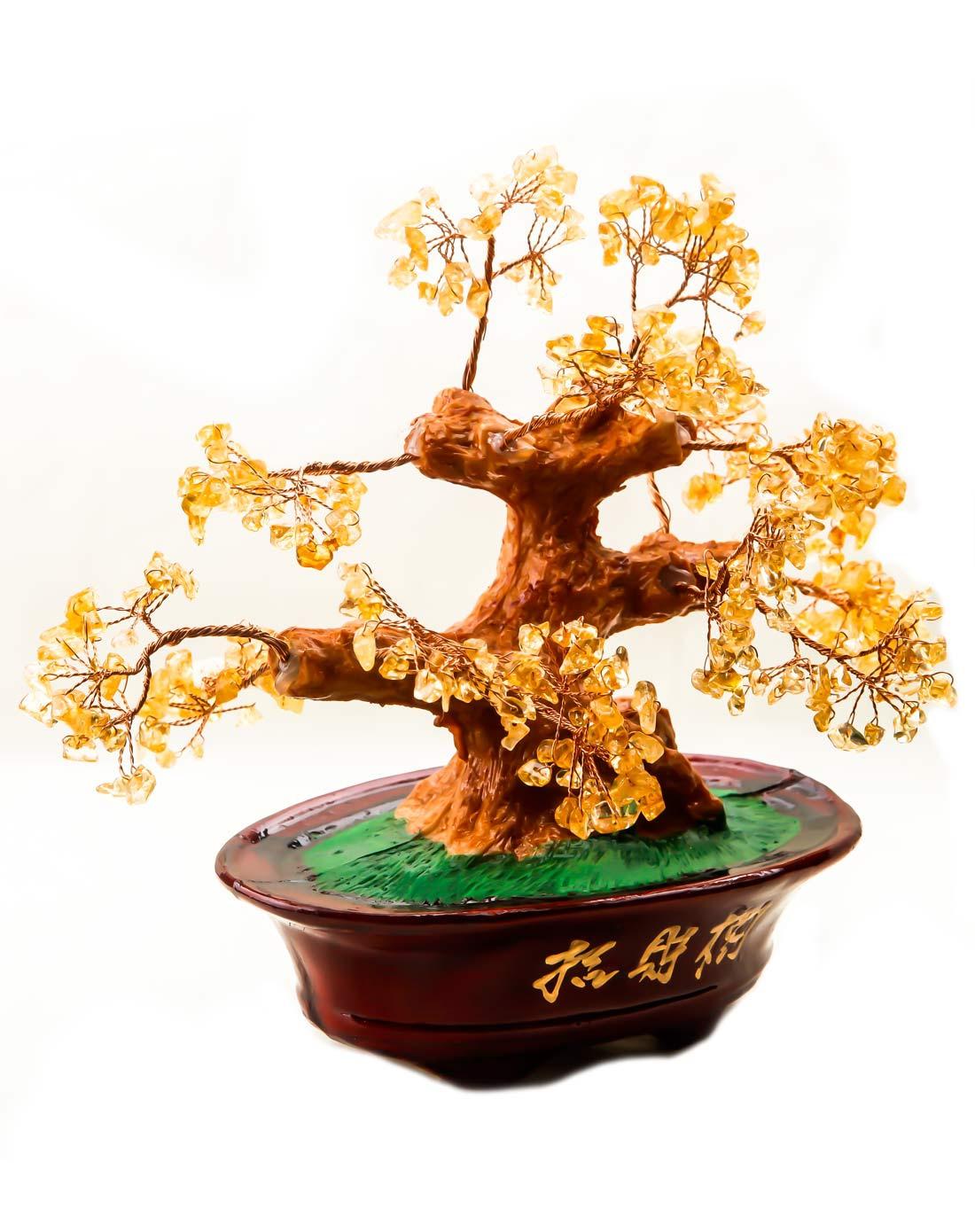树脂黄水晶发财树(大)招财聚财镇宅
