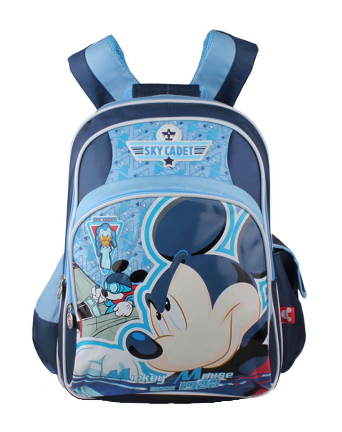 迪士尼disney儿童用品专场男童藏青色米奇卡通双肩sm