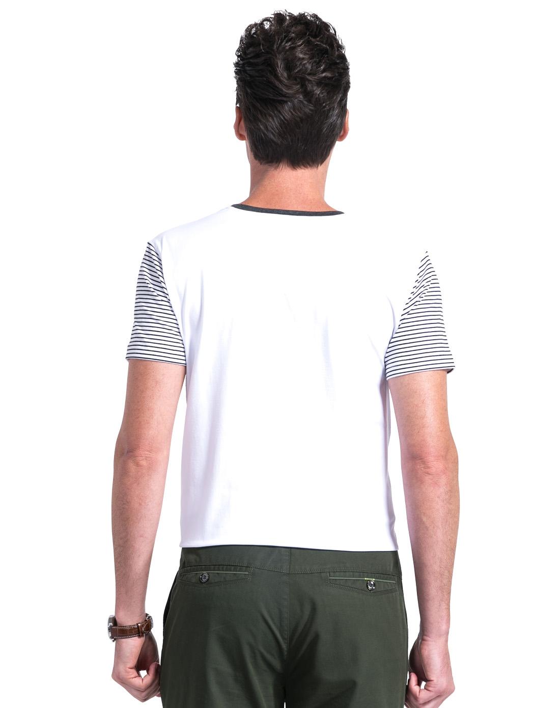 男黑白条t恤