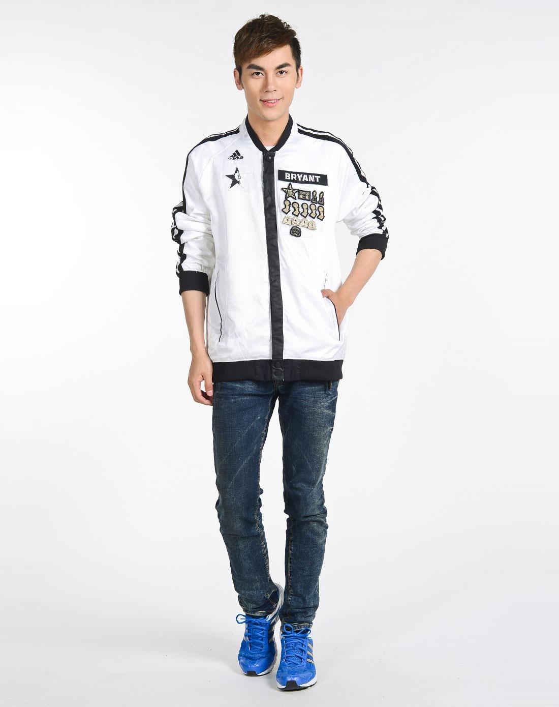 阿迪达斯adidas男装专场-男子黑色全明星限量版球员夹克