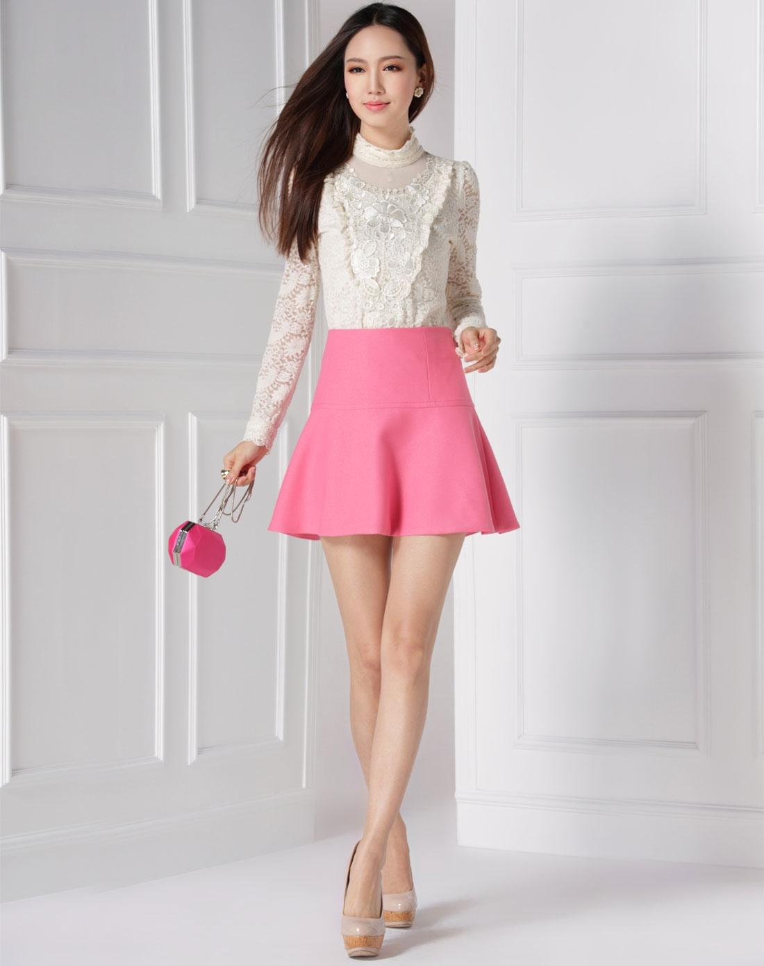 深粉红色甜美可爱