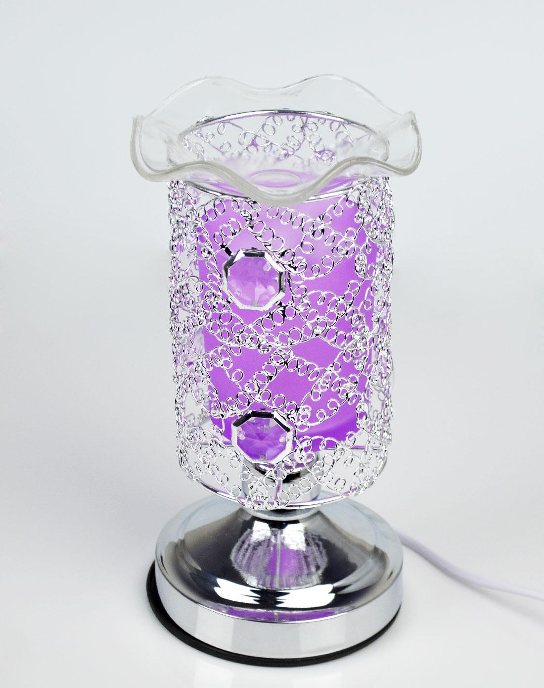 蝴蝶网圆形感应香水夜灯(紫色)
