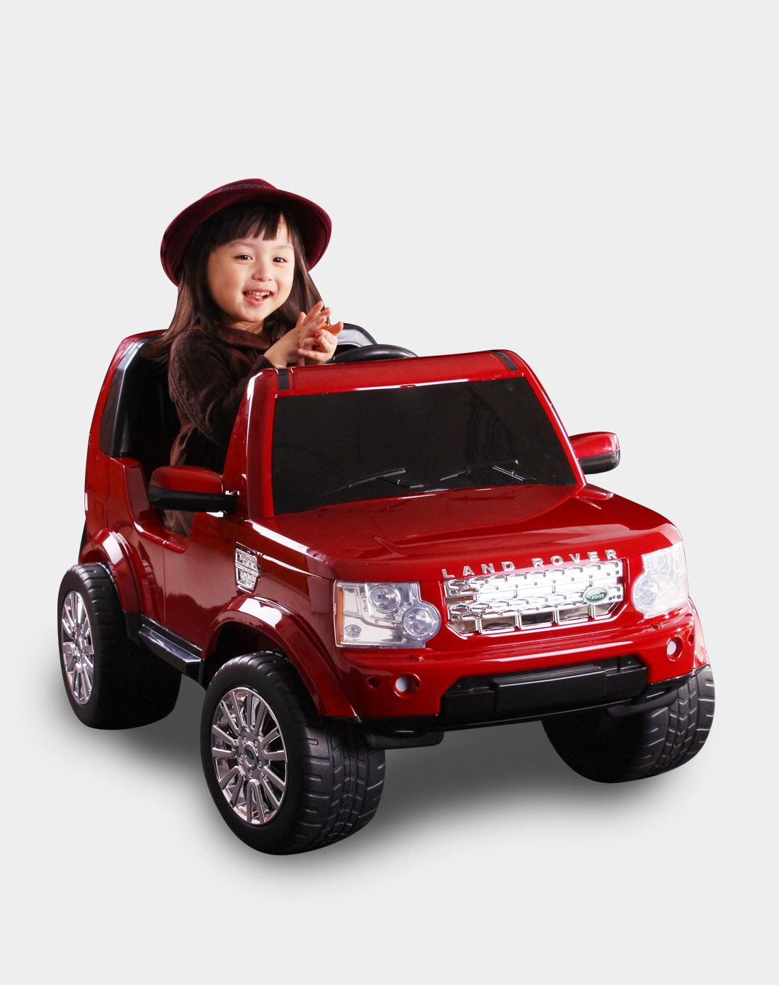 快乐年华儿童电动车专场路虎发现者4红色儿童可坐