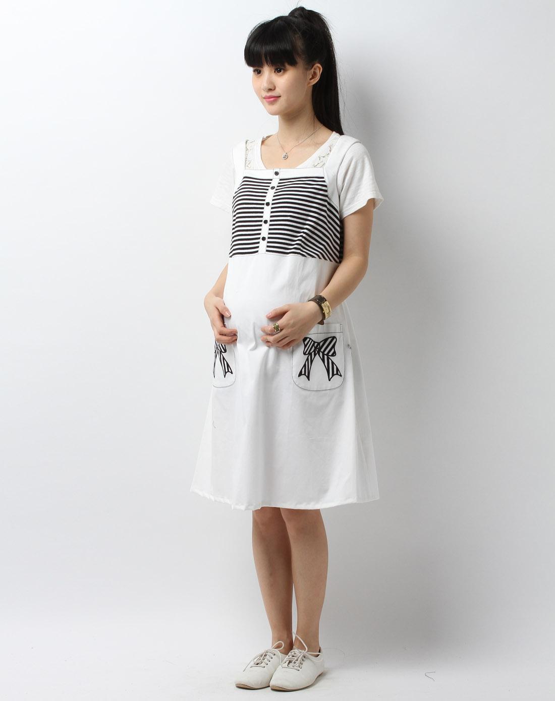 女款黑白条连衣裙
