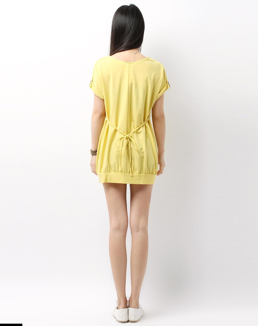 黄色小�9.lzf�9��h�9�$9.��l#��@_奇妮&肯勒芳孕妇装女款黄色上衣h31362_唯品会