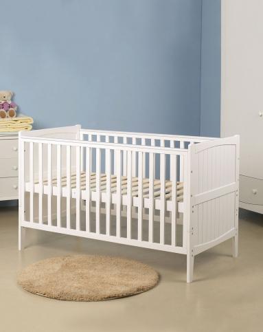 欧式婴儿床少年床(送配套床护栏)白色140*70