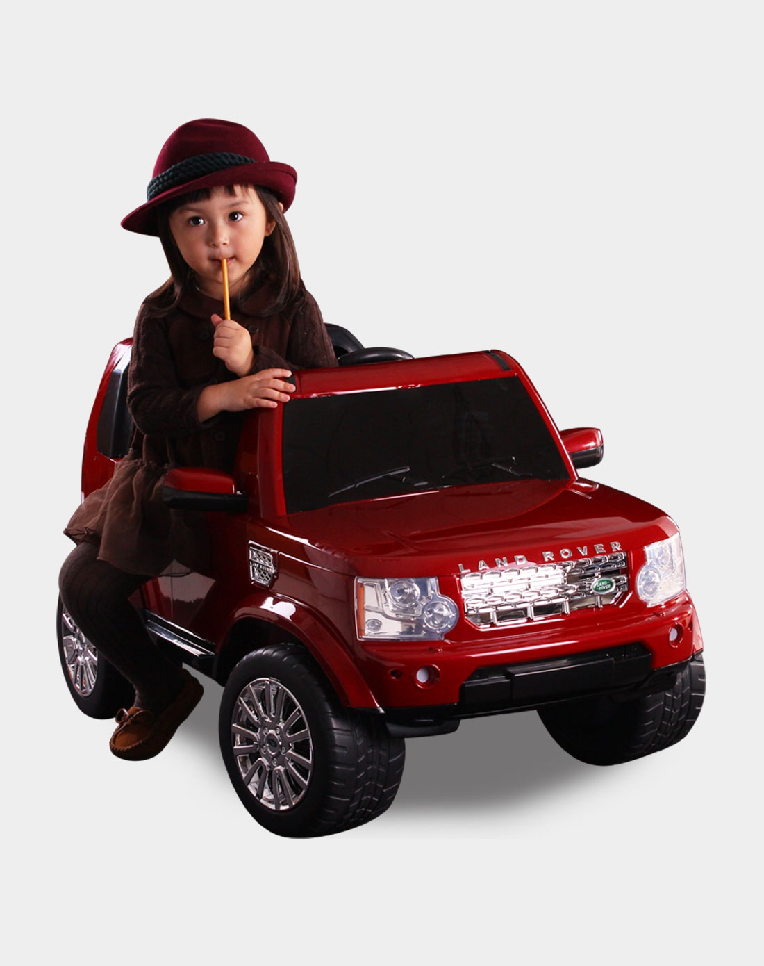 路虎发现者4儿童可坐遥控电动车