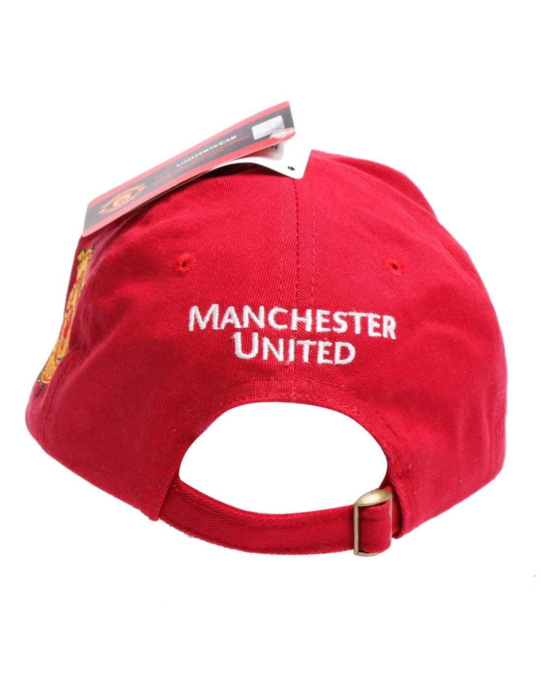 红色曼联棒球帽