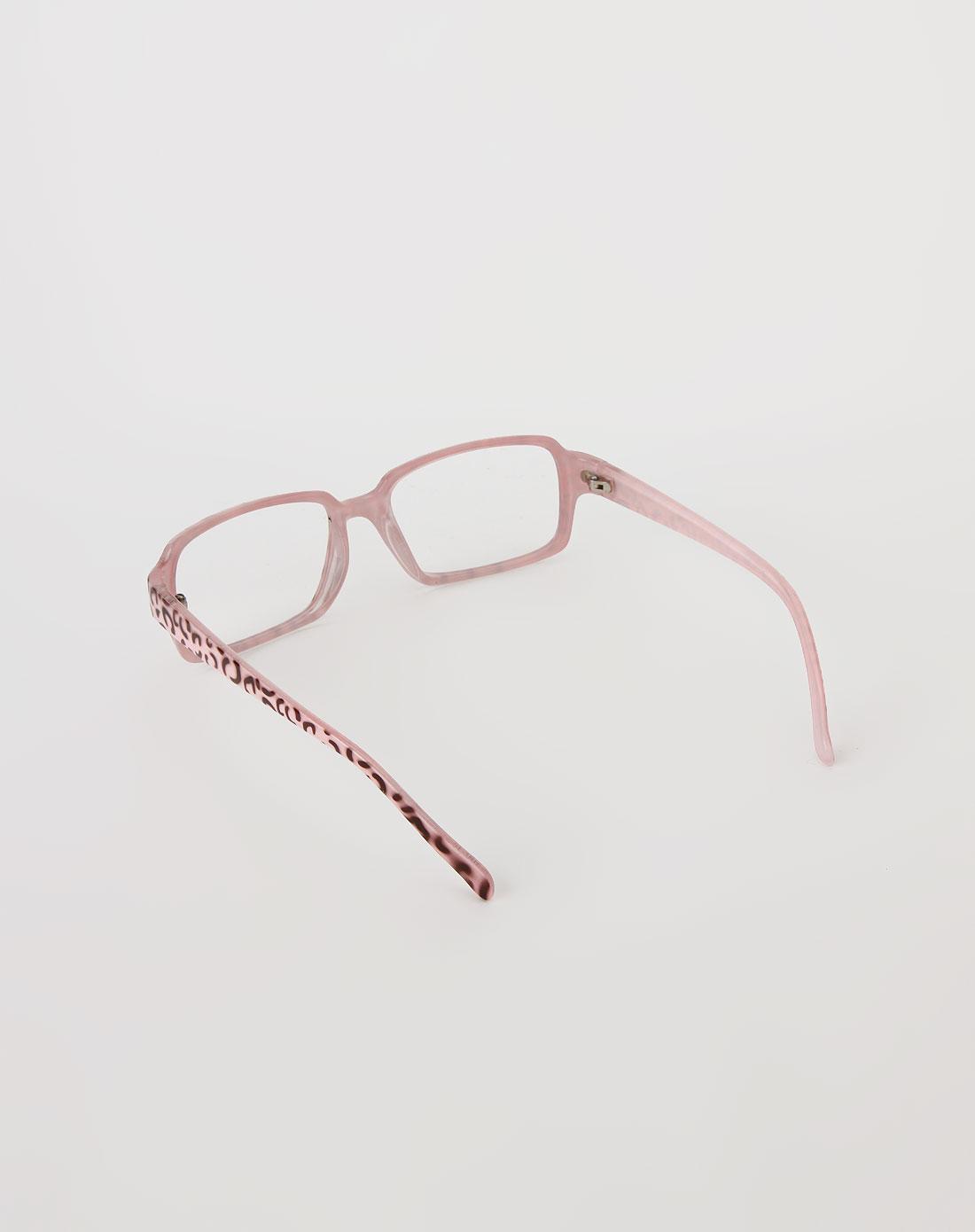 浅粉红可爱眼镜框