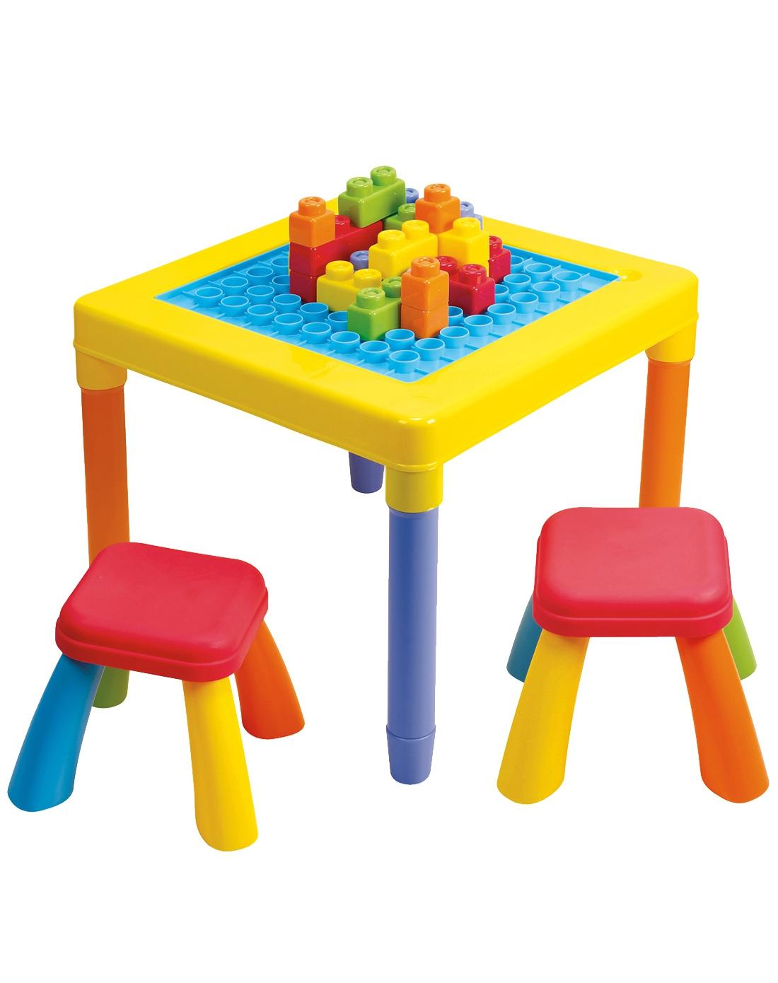 皇室&贝乐高&mz玩具贝乐高多功能积木桌宝宝双面游戏