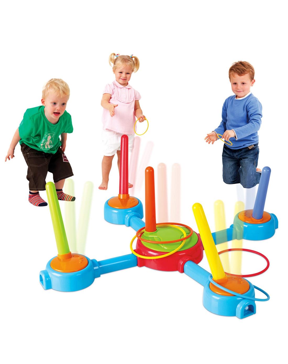 贝乐高儿童音乐套圈抛圈环游戏玩具