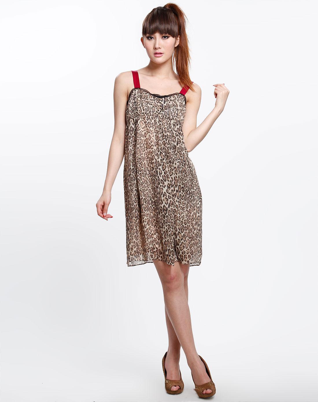 印花吊带连衣长裙 长裙连衣裙