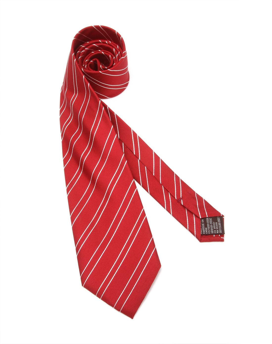 大红色成熟时尚斜纹领带