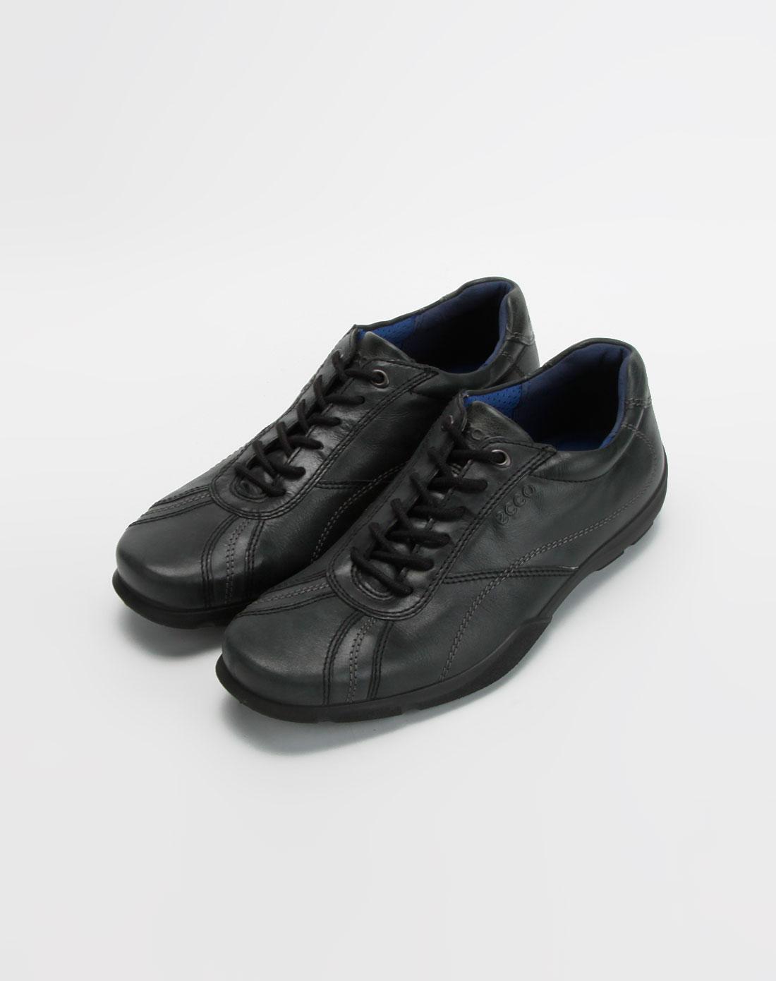 爱步ecco-男款黑色简约休闲鞋2