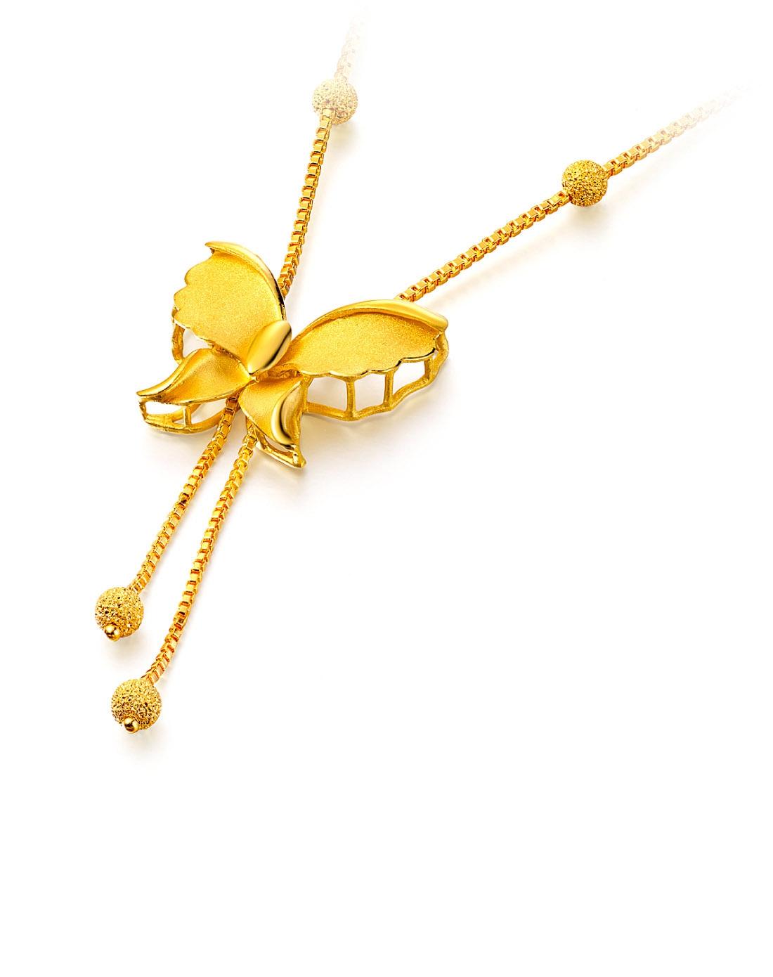 优雅如画蝴蝶黄金项链(计价)