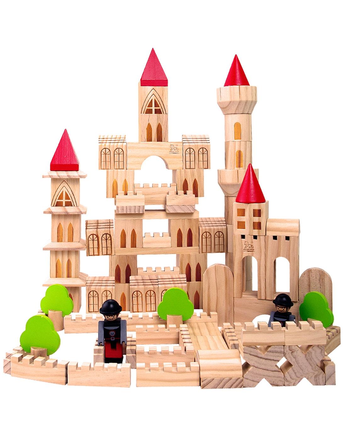 儿童益智玩具本色城堡积木