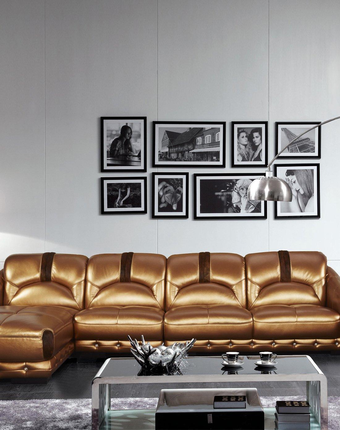 康耐登 欧式现代简约真皮沙发(右扶三人位 单人位 左贵妃位)