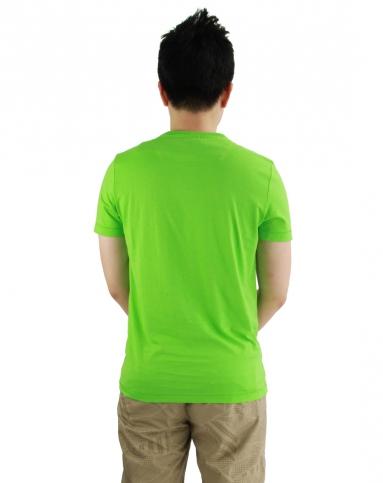 男款湖绿色圆领短袖t恤 吸湿排汗透气