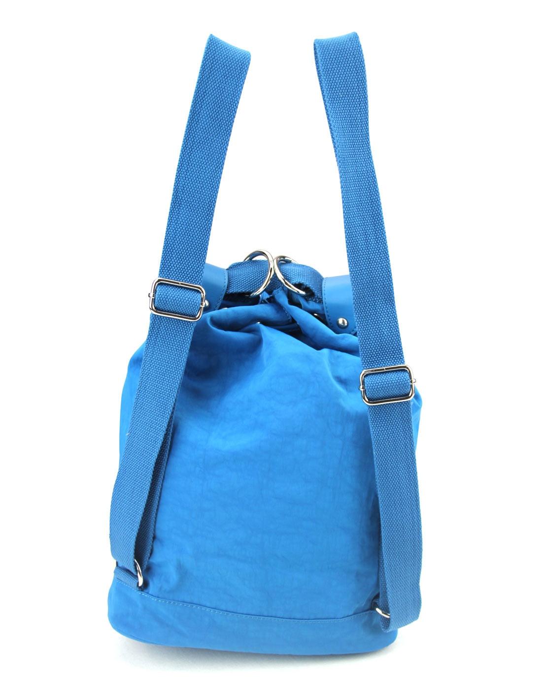 威尔逊werwilson女款湖水蓝纯色大号圆桶包v22086-010