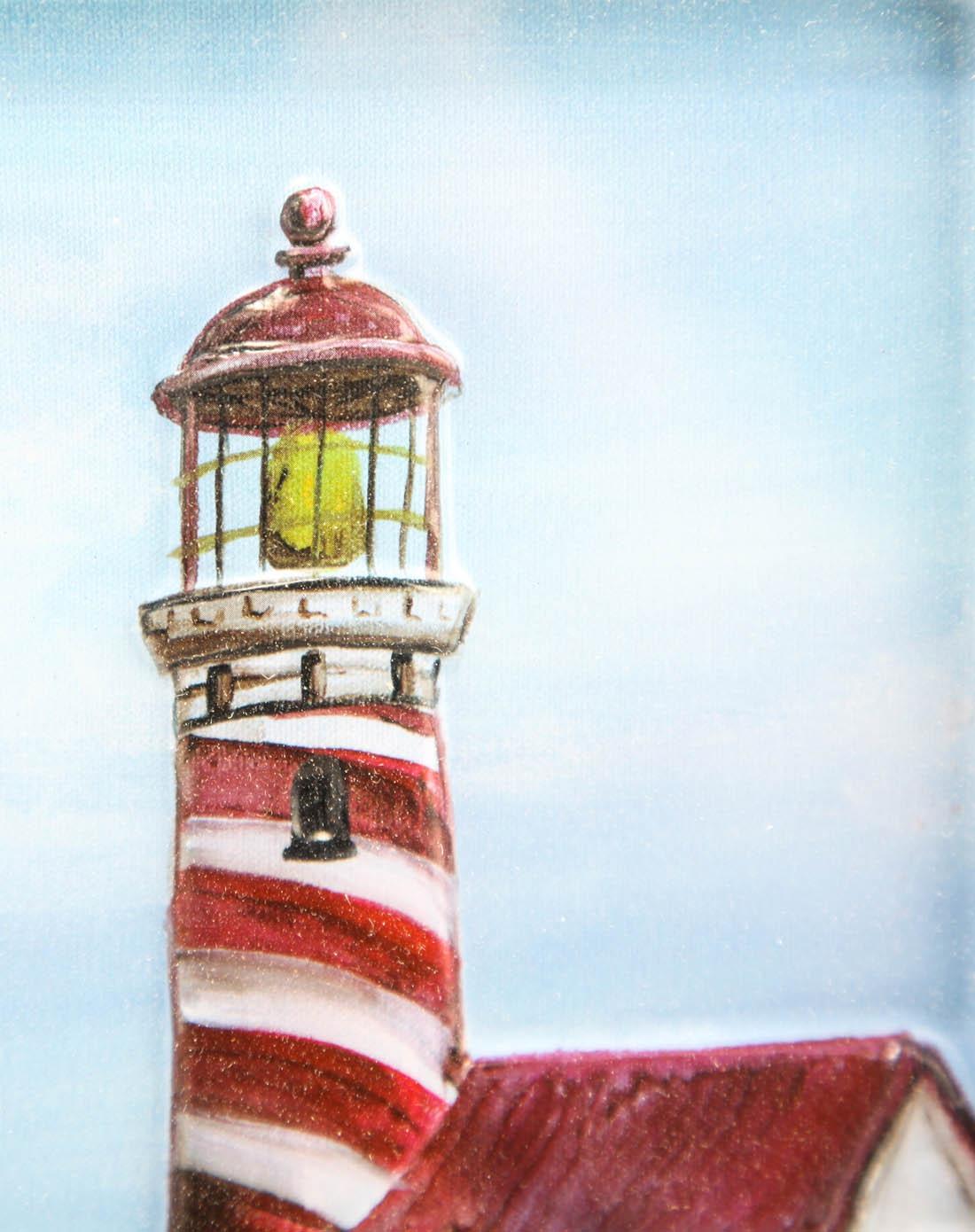 立体浮雕装饰画-岛屿灯塔