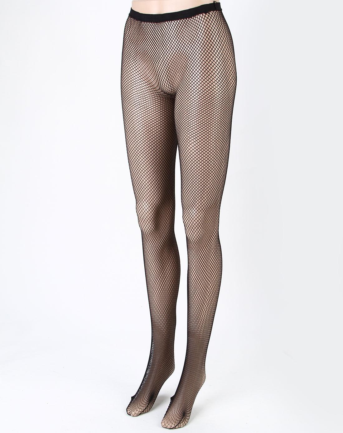 寓美女款黑色网眼纹连裤袜5件1包1521921