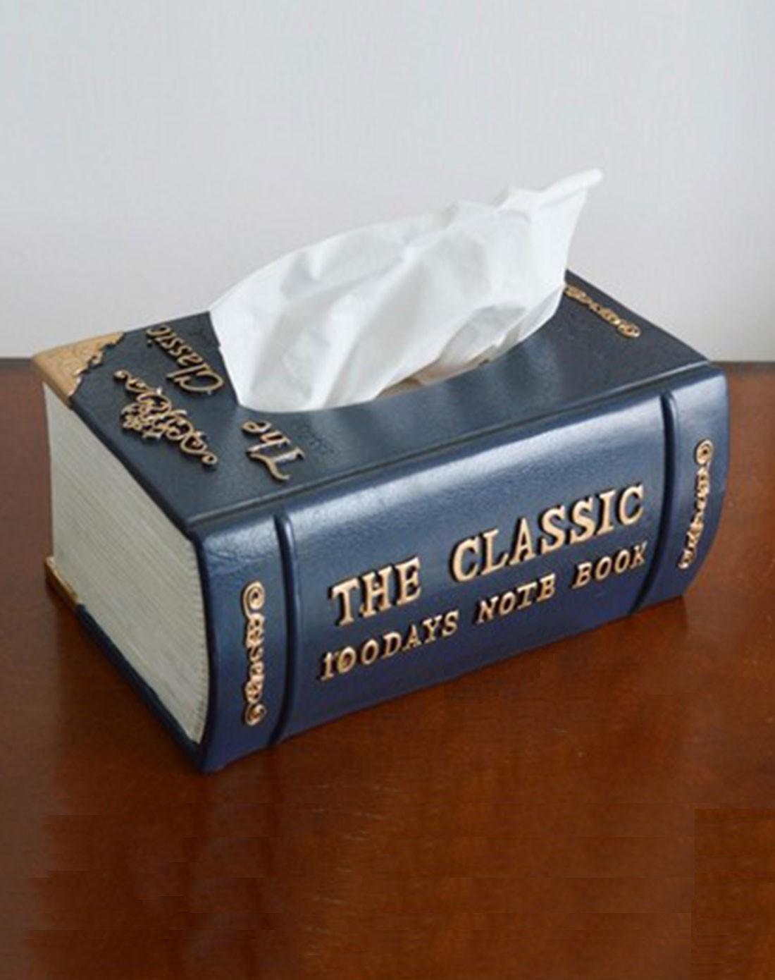 > 书本纸巾盒图片